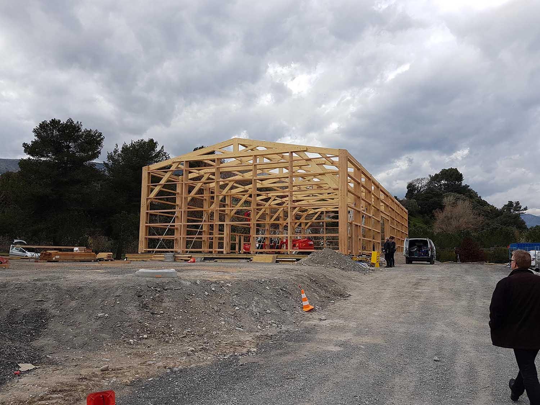 Réalisation Architecture hangar ossature bois