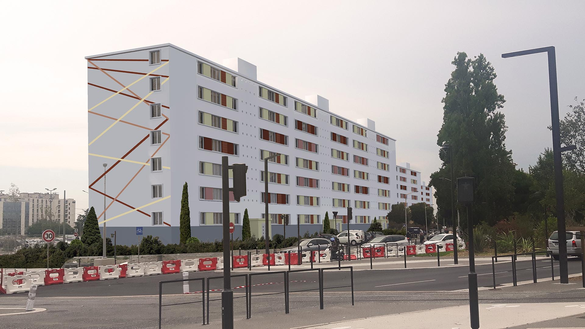 Réalisation Architecture immeuble logements collectifs