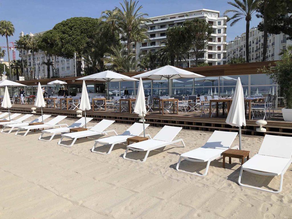 Réalisation Architecture plage Hôtel Martinez Cannes