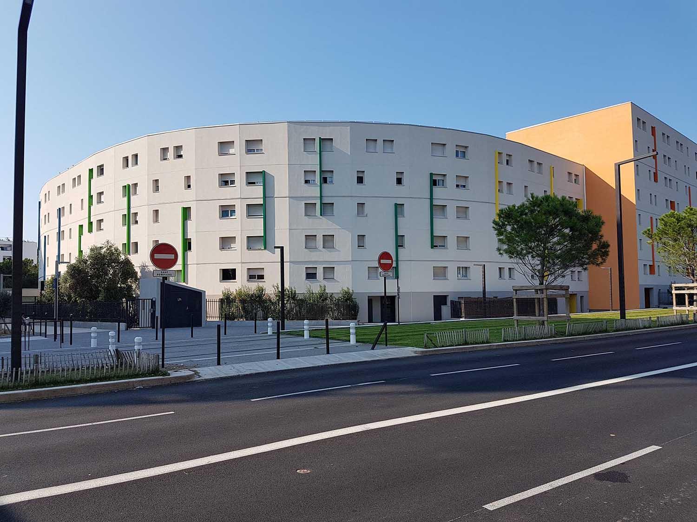 Réalisation Architecture requalification du quartier des Moulins Nice